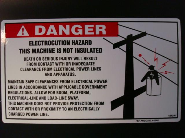 Danger Electrocution Hazard This Machine Is Not