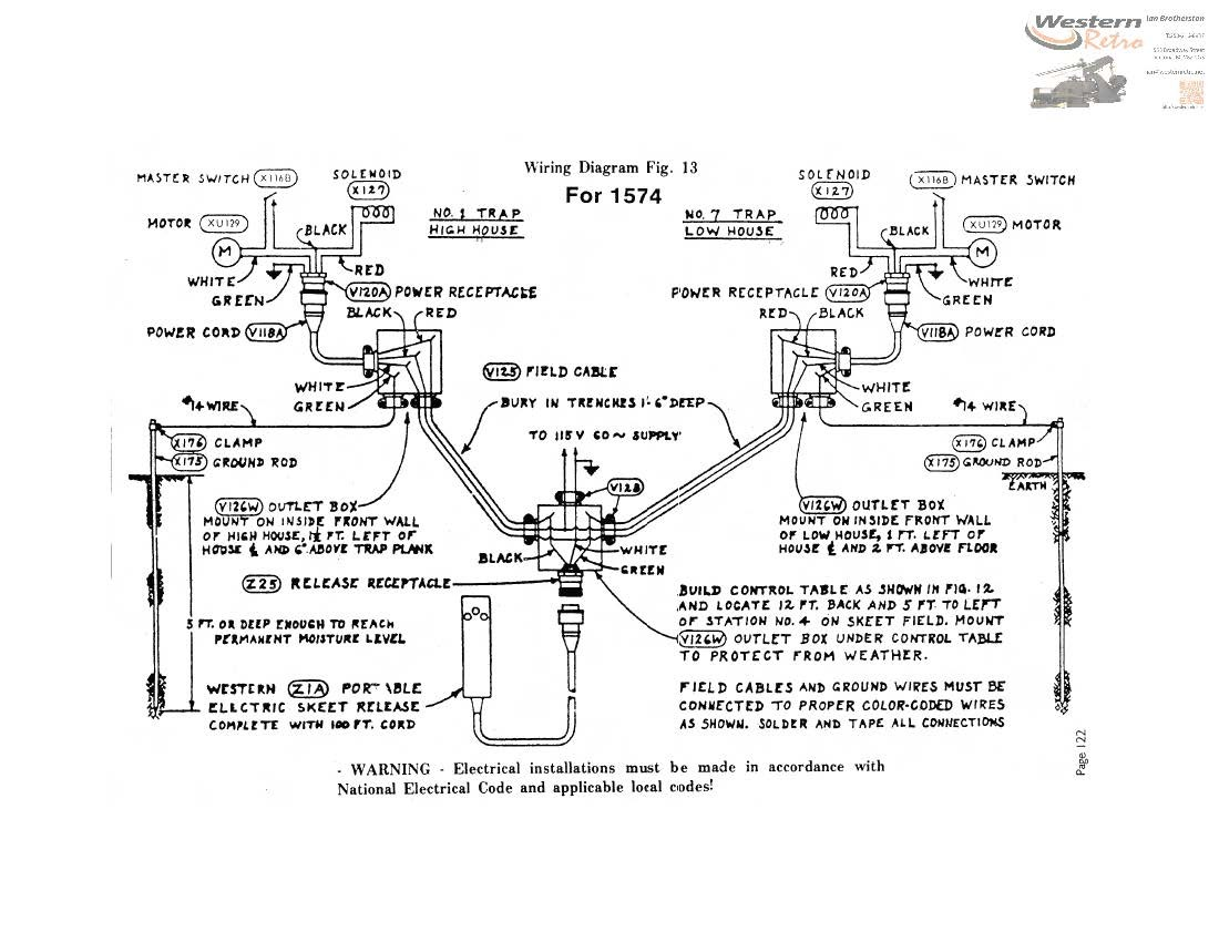 Western V Model Self Loading Skeet Wiring Diagram