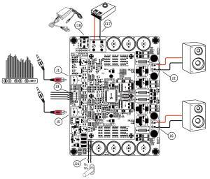 WONDOM 2 X 150W ClassD Audio Amplifier Board  TAS5613