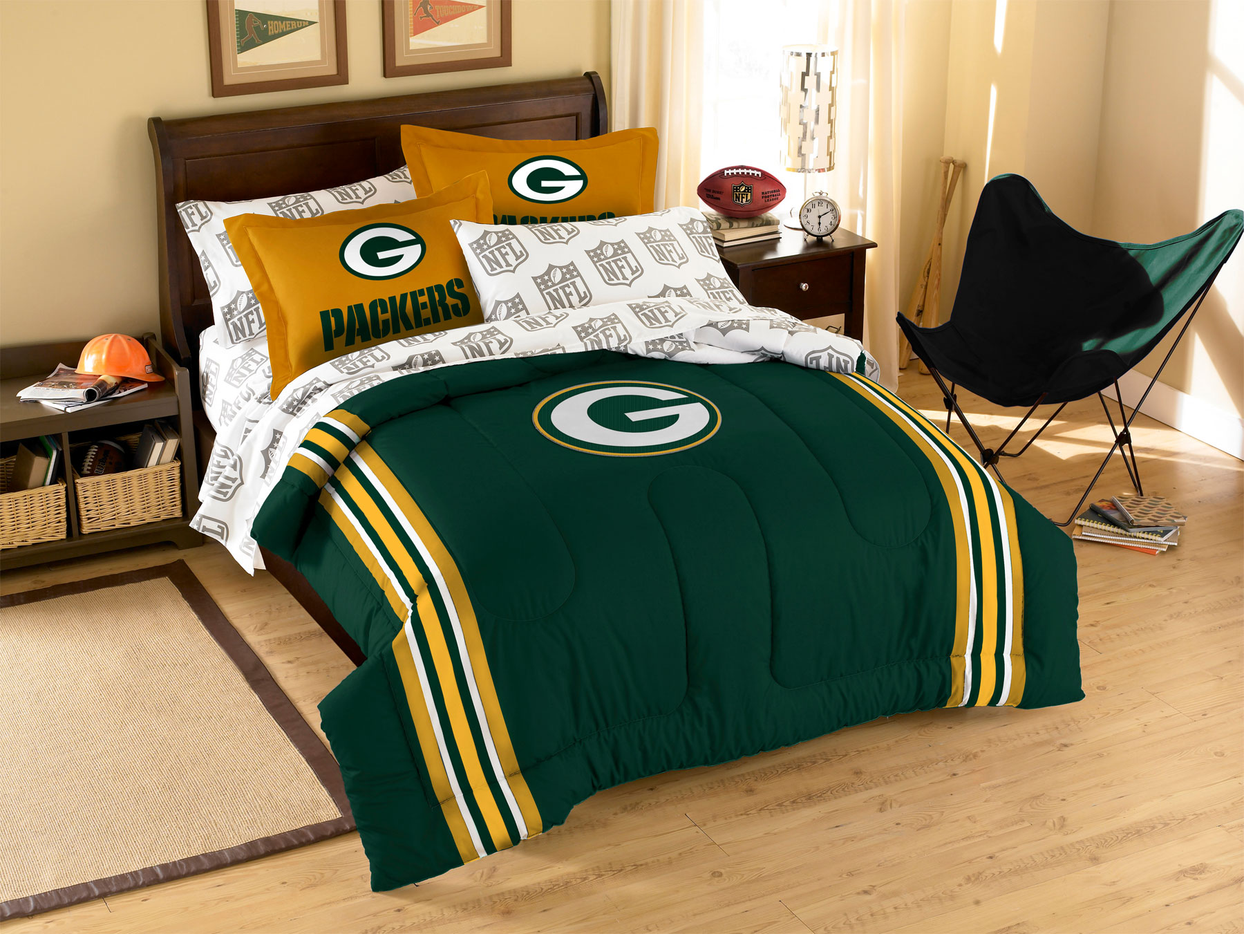 3pc Nfl Green Bay Packers Comforter Set