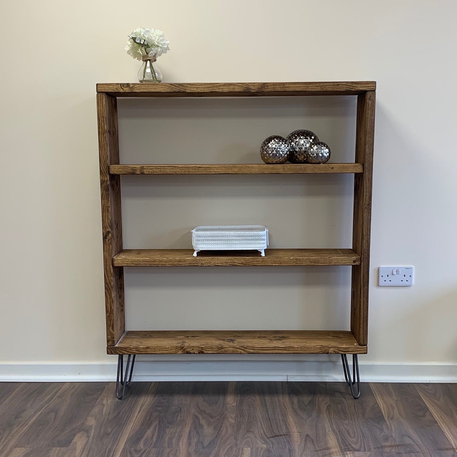 Details About Industrial Bookcase Chic Shelving Unit Room Divider Retro Display Shelves