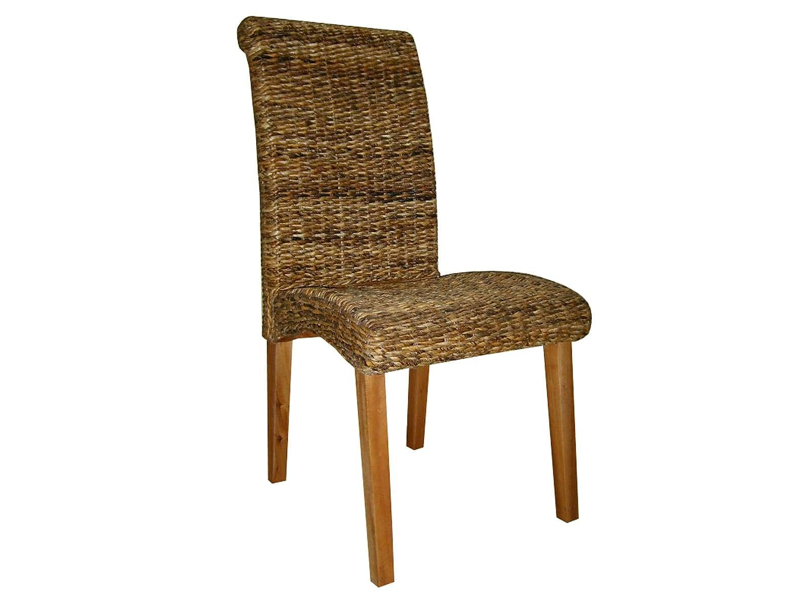 Details About Abaca Rattan Wicker Dining Chair Indoor Conservatory Furniture With Teak Legs