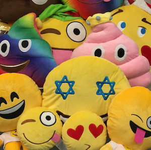 On Cloud 9 emoji pillows