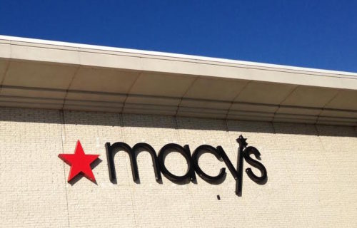 Macy's sign at Westfield Montgomery Mall