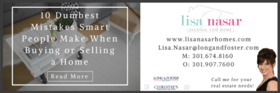 Advice from Realtor Lisa Nasar: http://www.lisanasarhomes.com/single-post/2016/12/05/The-10-Dumbest-Mistakes-Smart-People-Make-When-Buying-or-Selling-a-Home-–-and-How-to-Avoid-Them