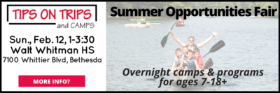 Tips on Trips and Camps Summer Opportunities Fair: http://tipsontripsandcamps.com/dc/
