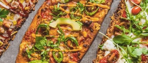Thin-crust pizzas