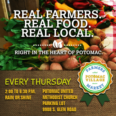 Potomac Village Farmers Market: https://www.facebook.com/PVFM20854/