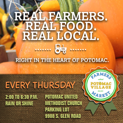 Potomac Village Farmers Market: https://www.facebook.com/PVFM20854