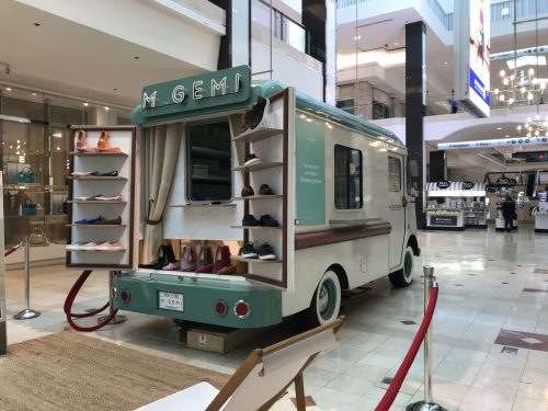 M. Gemi shoe bus at Westfield Montgomery Mall