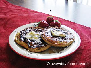 Blender Wheat Pancakes (Pioneer Pancakes)