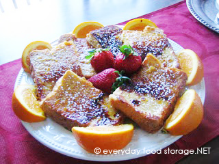 & Gourmet Food Storage French Toast with Orange Syrup