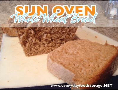 Sun Oven Whole Wheat Bread