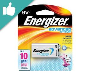 Energizer Lithium 9 volt Batteries