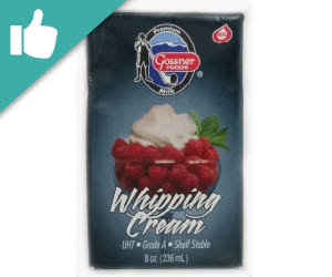 Gossner Shelf-Stable Whipping Cream