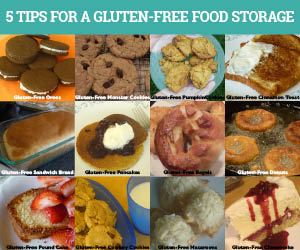 5 Tips for a Gluten-free Food Storage