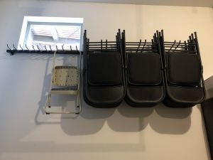 folding chair storage rack g system wall mount organizer