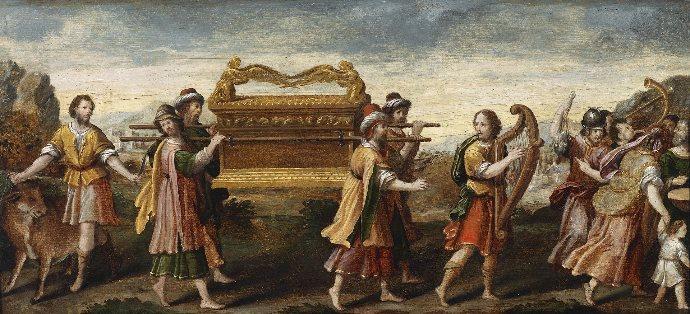 Il furto dell'Arca dell'Alleanza. Prima metà del XVI secolo. Scuola umbra. Dominio pubblico.