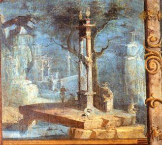 Affresco Tempio di Iside a Pompei. Napoli, MANN.
