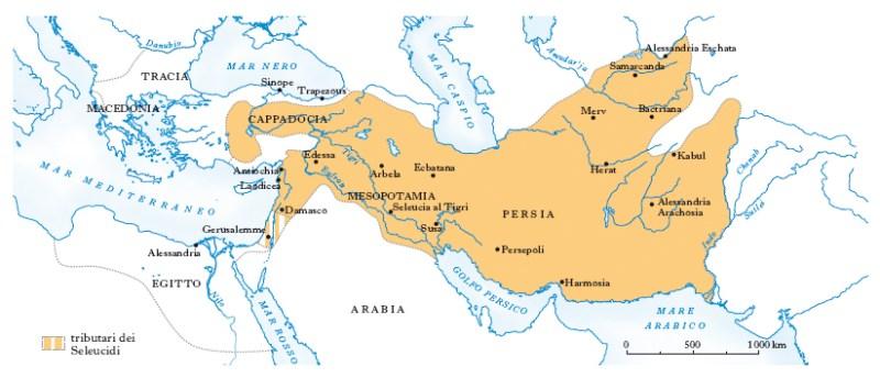 Impero Seleucide alla massima espansione.