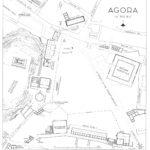 Agorà di Atene nel IV Secolo a.C. - sul lato orientale il grande peristilio quadrato per gli iter dei processi civili