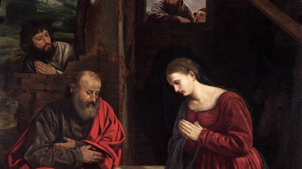 "Giovanni Gerolamo Savoldo, ""Natività"". Venezia, San Giobbe."