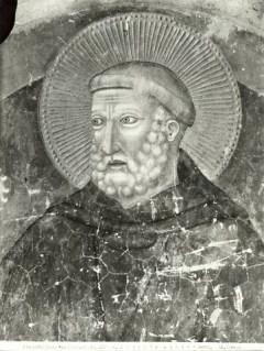 Anonimo, San Antonio Abate, particolare dagli affreschi del Capitolo dell'Abbazia. Codigoro (Ferrara), Abbazia di Pomposa