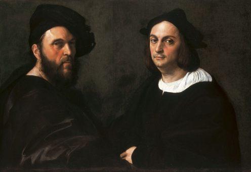 Raffaello, Doppio ritratto di Andrea Navagero e Agostino Beazzano, c. 1516, Roma, Galleria Doria Pamphilj