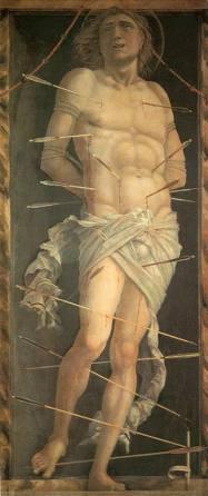 Andrea Mantegna, San Sebastiano, c. 1495-1500, Venezia, Ca' d'Oro, Galleria Giorgio Franchetti