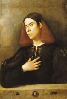 Giorgione, Ritratto di giovane, c. 1503, Budapest, Szépmuvészeti Muzeum