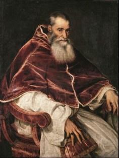 Tiziano Vecellio, Ritratto di Paolo III senza camauro, 1543, Napoli, Museo di Capodimonte