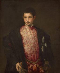 Tiziano Vecellio, Ritratto di Ranuccio Farnese, c. 1542, Washington, National Gallery of Art Samuel H. Kress Collection