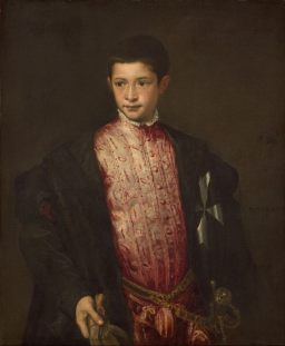 Tiziano Vecellio, Ritratto di Ranuccio Farnese, c. 1542, Washington, National Gallery of Art Samuel H. Kress Collection