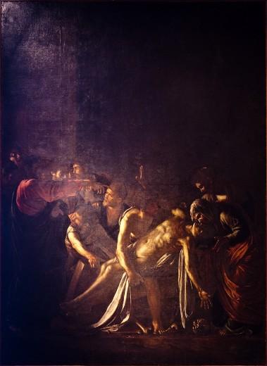 Caravaggio, Resurrezione di Lazzaro, 1609, Messina, Museo Regionale.