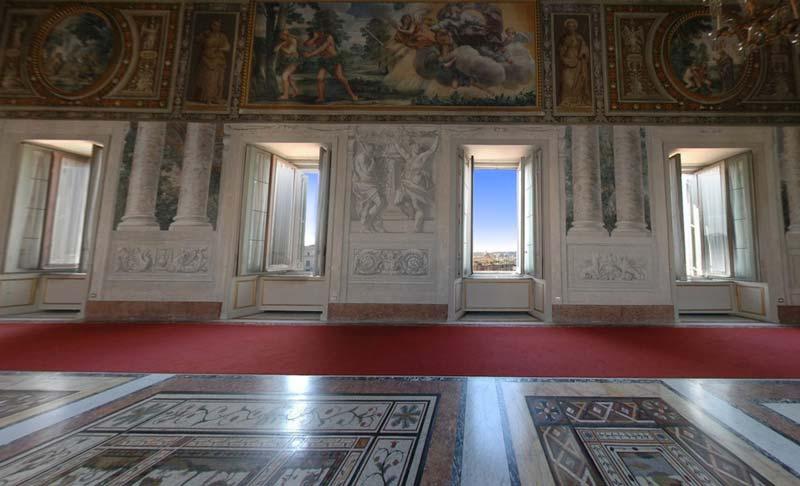 Palazzo del Quirinale – Veduta della Sala Gialla dopo il restauro