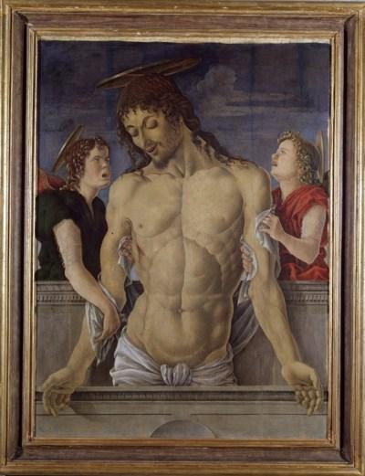 Marco Zoppo, Cristo morto sorretto da due angeli, Pesaro