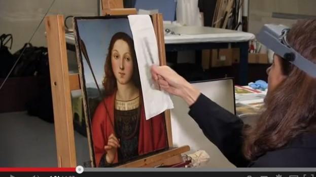 """Il restauro del """"San Sebastiano"""" di Raffaello dell'Accademia Carrara"""