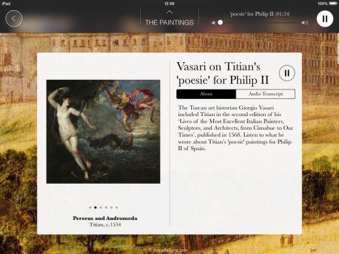 iPad Vasari audio screen