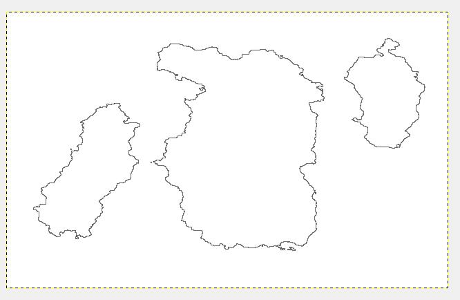 Crea un nuovo livello bianco sopra all'immagine, e sopra a quest'ultimo un livello trasparente. Vai su: Modifica > Delinea Selezione > Spessore della line 2px e Stile della linea arrotondato.