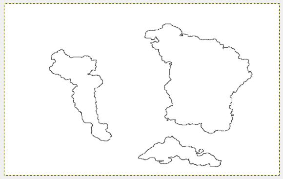 Dopo aver cliccato nel livello trasparente andate su Modifica → Delina Selezione, come abbiamo già fatto nel precedente tutorial.