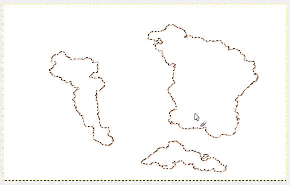 Create un nuovo livello trasparente sopra a quello attuale, Cambiate colore principale (#b35c1b), andate su Modifica → Delinea Selezione (potete utilizzare qualunque dei due sistemi). La linea è stata fatta con Pennello Hardness 025 con una dimensione di 2 px.