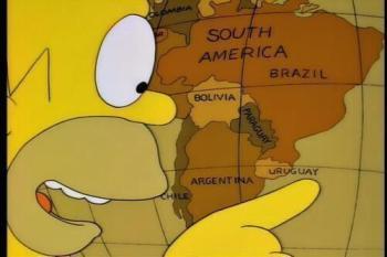Anche Homer Simpson sembra voler scherzare su sulla debacle uruguaiana
