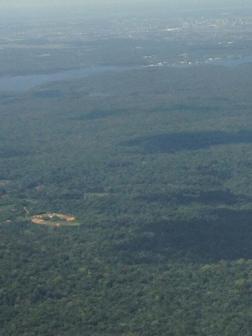 Per raggiungere l'Arena AmazoniA bisogna attraversare una modesta barriera di vegetazione