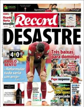 La stampa portoghese non usa giri di parole
