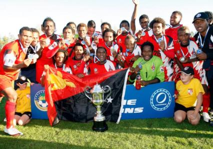 L'Hekari United, campione d'Oceania nel 2010