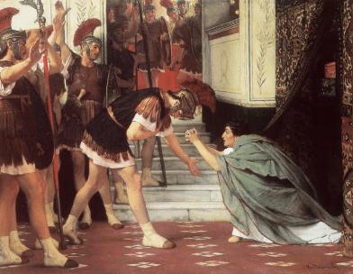 Proclaiming_claudius_emperor-Alma Tadema