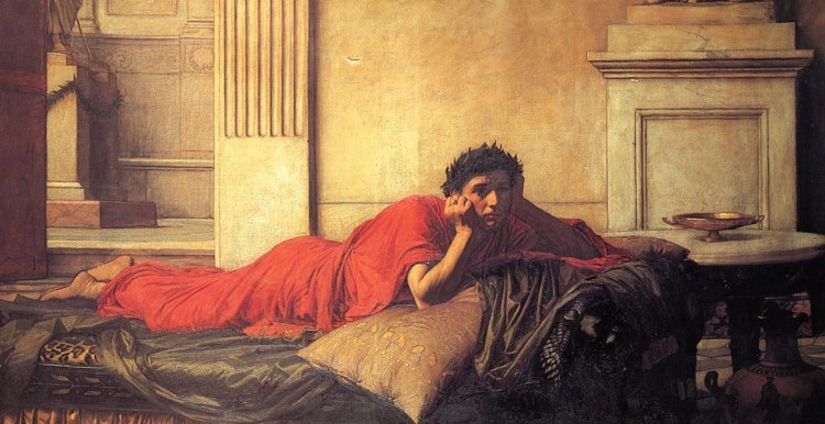 waterhouse-il rimorso di Nerone dopo l'assassinio di sua madre