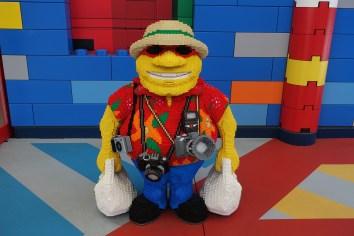 Tourist made of Lego