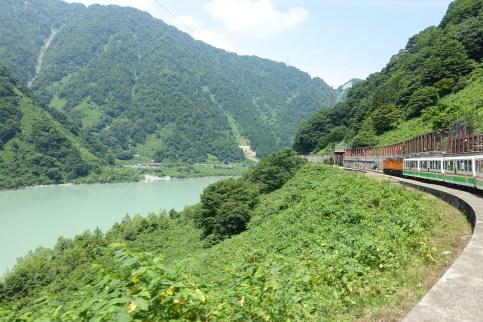 Alongside Unazuki Dam