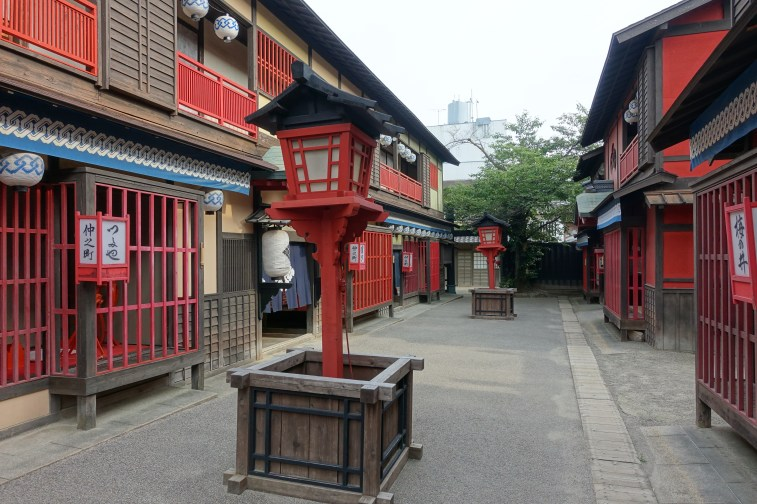 Recreation of old samurai era streets
